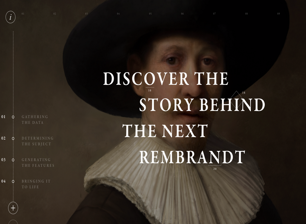 "3D news: ""The Next Rembrandt"" project"