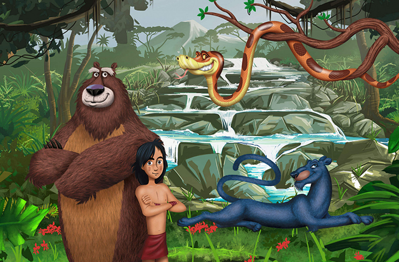 Mowgli in the Country of Dinosaurs